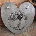 """Beton szív kép """"Fa, Nap, Hold"""", A kép betonból készült, """"Fa, Nap, Hold"""" motív..."""