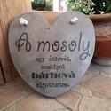 """Beton szív kép """"Mosoly"""", A kép betonból készült, transzferálással. Fe..."""