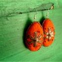 """""""Narancsvirág"""" nemez fülbevaló, Ékszer, Fülbevaló, Ékszerkészítés, Nemezelés, AKCIÓ!!!  A POSTAKÖLTSÉGET ÉN ÁLLOM!  Narancssárga nemezpárnát csináltam, majd virág alakú fémlappa..., Meska"""