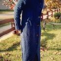 Kézzel kötött kabát, Baba-mama-gyerek, Ruha, divat, cipő, Otthon, lakberendezés, Kötés, Kézi kötéssel készült merino gyapju fonalból a fotón látható kabát. A minta egyedi tervezés alapján..., Meska