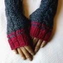 Kézmelegítő, kesztyű ujjatlan, Baba-mama-gyerek, Ruha, divat, cipő, Kötés, 100 % merino gyapjúból készült kézmelegítő. Sapka, sál is rendelhető is hozzá. Az ár egy pár kézmel..., Meska