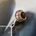 Szivárvány jáspis ezüst nyaklánc , Ékszer, Medál, Nyaklánc, Elegáns medál ezüst drótból és egy szép szivárvány jáspis gyöngyből. Az akasztóját vékony ezüst drót..., Meska