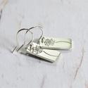 Pitypangos ezüst fülbevaló 2., Fülbevaló pitypang mintás Sterling ezüst lapok...