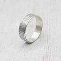 Ezüst karikagyűrű (rusztikus, kalapált), Rusztikus kalapált karikagyűrű Sterling ezüstb...