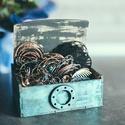 Steampunk ékszertartó doboz, Egyedi készítésű, kézzel festett fa ékszerta...