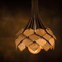 Vízcsepp csillár ( függő ), Fából készült lámpa, élénkebb hangulatfény...