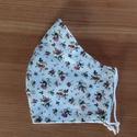 Akció! Textil szájmaszk - fehér alapon apró virágmintás 2. - női vagy tini méretben , Maszk, Arcmaszk, Varrás, Akció!!! Boltomból bármelyik 6 db szájmaszk együttes vásárlása esetén a postaköltséget vagy  foxpos..., Meska