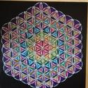 Mandala kép, Dekoráció, Otthon, lakberendezés, Kép, Falikép, Feszített vászonra, pontfestéses eljárással készült, akril mandala kép. Méret: 50x50 cm , Meska