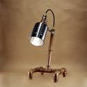Réz színű asztali steampunk hangulatlámpa vízvezeték csövekből, Otthon, lakberendezés, Lámpa, Asztali lámpa, Hangulatlámpa, Fémmegmunkálás, Minden lámpám egyedi formavilágú, melyek a funkcionalitásuk mellett különleges hangulatot is teremt..., Meska