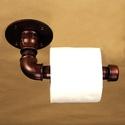 Antik réz színű steampunk toalettpapír tartó, Otthon, lakberendezés, Férfiaknak, Steampunk ajándékok, Egyedi antik réz színű steampunk toalettpapír tartó vízvezetékcsövekből. Természetesen más kialakítá..., Meska