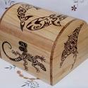 Fa doboz - Maori mintás, Otthon, lakberendezés, Ékszer, Tárolóeszköz, Doboz, Famegmunkálás, Gravírozás, pirográfia, Pirográfiával díszített fa doboz, amelynek az oldalaira és tetejére maori(óceániai) mintákat égette..., Meska