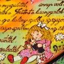 Keresztelői szív, fába égetett, festett, egyedi., Baba-mama-gyerek, Dekoráció, Kép, Famegmunkálás, Festett tárgyak, FÁBA ÉGETETT, FESTETT termékekkel foglalkozom, mindenféle ünnepkörrel kapcsolatban. Munkáim általáb..., Meska