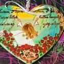 ELSŐÁLDOZÁSI szív, fába égetett, festett, egyedi., Baba-mama-gyerek, Dekoráció, Kép, Famegmunkálás, Festett tárgyak, FÁBA ÉGETETT, FESTETT termékekkel foglalkozom, mindenféle ünnepkörrel kapcsolatban. Munkáim általáb..., Meska