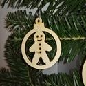 karácsonyfadísz003, Dekoráció, Ünnepi dekoráció, Karácsonyi, adventi apróságok, Karácsonyfadísz, Famegmunkálás, 3 mm vastag rétegelt fából készült függeszthető, igény szerint színre festhető vagy fújható, 5 cm á..., Meska