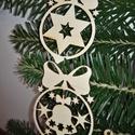 karácsonyfadísz005, Dekoráció, Ünnepi dekoráció, Karácsonyi, adventi apróságok, Karácsonyfadísz, Famegmunkálás, 3 mm vastag rétegelt fából készült függeszthető, igény szerint színre festhető vagy fújható, 8 cm m..., Meska