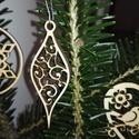 karácsonyfadísz009, Dekoráció, Ünnepi dekoráció, Karácsonyi, adventi apróságok, Karácsonyfadísz, Famegmunkálás, 3 mm vastag rétegelt fából készült függeszthető, igény szerint színre festhető vagy fújható, 7 cm m..., Meska