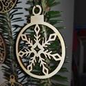 karácsonyfadísz010, Dekoráció, Ünnepi dekoráció, Karácsonyi, adventi apróságok, Karácsonyfadísz, Famegmunkálás, 3 mm vastag rétegelt fából készült függeszthető, igény szerint színre festhető vagy fújható, 5,5 cm..., Meska