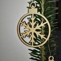 karácsonyfadísz012, Dekoráció, Ünnepi dekoráció, Karácsonyi, adventi apróságok, Karácsonyfadísz, Famegmunkálás, 3 mm vastag rétegelt fából készült függeszthető, igény szerint színre festhető vagy fújható, 5,5 cm..., Meska