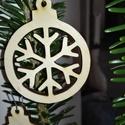 karácsonyfadísz018, Dekoráció, Ünnepi dekoráció, Karácsonyi, adventi apróságok, Karácsonyfadísz, Famegmunkálás, 3 mm vastag rétegelt fából készült függeszthető, igény szerint színre festhető vagy fújható, 5 cm á..., Meska