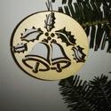 karácsonyfadísz020, Dekoráció, Ünnepi dekoráció, Karácsonyi, adventi apróságok, Karácsonyfadísz, Famegmunkálás, 3 mm vastag rétegelt fából készült függeszthető, igény szerint színre festhető vagy fújható, 7 cm á..., Meska