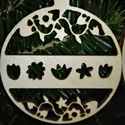 karácsonyfadísz028, Dekoráció, Ünnepi dekoráció, Karácsonyi, adventi apróságok, Karácsonyfadísz, Famegmunkálás, 3 mm vastag rétegelt fából készült függeszthető, igény szerint színre festhető vagy fújható, 7 cm á..., Meska