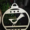 karácsonyfadísz029, Dekoráció, Ünnepi dekoráció, Karácsonyi, adventi apróságok, Karácsonyfadísz, Famegmunkálás, 3 mm vastag rétegelt fából készült függeszthető, igény szerint színre festhető vagy fújható, 7 cm á..., Meska