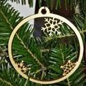karácsonyfadísz030, Dekoráció, Ünnepi dekoráció, Karácsonyi, adventi apróságok, Karácsonyfadísz, Famegmunkálás, 3 mm vastag rétegelt fából készült függeszthető, igény szerint színre festhető vagy fújható, 9 cm á..., Meska