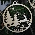 karácsonyfadísz031, Dekoráció, Ünnepi dekoráció, Karácsonyi, adventi apróságok, Karácsonyfadísz, 3 mm vastag rétegelt fából készült függeszthető, igény szerint színre festhető vagy fújha..., Meska