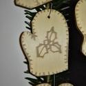 karácsonyfadísz039, Dekoráció, Ünnepi dekoráció, Karácsonyi, adventi apróságok, Karácsonyfadísz, Famegmunkálás, 3 mm vastag rétegelt fából készült függeszthető, igény szerint színre festhető vagy fújható, 6,5*4,..., Meska