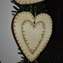 karácsonyfadísz040, Dekoráció, Ünnepi dekoráció, Karácsonyi, adventi apróságok, Karácsonyfadísz, Famegmunkálás, 3 mm vastag rétegelt fából készült függeszthető, igény szerint színre festhető vagy fújható, 6*5 cm., Meska