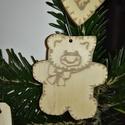 karácsonyfadísz041, Dekoráció, Ünnepi dekoráció, Karácsonyi, adventi apróságok, Karácsonyfadísz, Famegmunkálás, 3 mm vastag rétegelt fából készült függeszthető, igény szerint színre festhető vagy fújható, 6*5 cm., Meska
