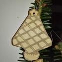 karácsonyfadísz042, Dekoráció, Ünnepi dekoráció, Karácsonyi, adventi apróságok, Karácsonyfadísz, Famegmunkálás, 3 mm vastag rétegelt fából készült függeszthető, igény szerint színre festhető vagy fújható, 7*5,5 ..., Meska