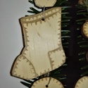 karácsonyfadísz043, Dekoráció, Ünnepi dekoráció, Karácsonyi, adventi apróságok, Karácsonyfadísz, Famegmunkálás, 3 mm vastag rétegelt fából készült függeszthető, igény szerint színre festhető vagy fújható, 6,5*5,..., Meska