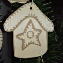 karácsonyfadísz046, Dekoráció, Ünnepi dekoráció, Karácsonyi, adventi apróságok, Karácsonyfadísz, Famegmunkálás, 3 mm vastag rétegelt fából készült függeszthető, igény szerint színre festhető vagy fújható, 5,5*5 ..., Meska