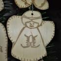 karácsonyfadísz047, Dekoráció, Ünnepi dekoráció, Karácsonyi, adventi apróságok, Karácsonyfadísz, Famegmunkálás, 3 mm vastag rétegelt fából készült függeszthető, igény szerint színre festhető vagy fújható, 6,5*6 ..., Meska