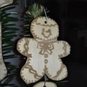 karácsonyfadísz048, Dekoráció, Ünnepi dekoráció, Karácsonyi, adventi apróságok, Karácsonyfadísz, Famegmunkálás, 3 mm vastag rétegelt fából készült függeszthető, igény szerint színre festhető vagy fújható, 6*5 cm., Meska