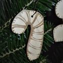 karácsonyfadísz049, Dekoráció, Ünnepi dekoráció, Karácsonyi, adventi apróságok, Karácsonyfadísz, Famegmunkálás, 3 mm vastag rétegelt fából készült függeszthető, igény szerint színre festhető vagy fújható, 6,3*4 ..., Meska