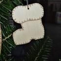 karácsonyfadísz050, Dekoráció, Ünnepi dekoráció, Karácsonyi, adventi apróságok, Karácsonyfadísz, Famegmunkálás, 3 mm vastag rétegelt fából készült függeszthető, igény szerint színre festhető vagy fújható, 6*5 cm., Meska