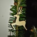 karácsonyfadísz052, Dekoráció, Ünnepi dekoráció, Karácsonyi, adventi apróságok, Karácsonyfadísz, Famegmunkálás, 3 mm vastag rétegelt fából készült függeszthető, igény szerint színre festhető vagy fújható, 4*5 cm., Meska