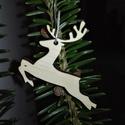 karácsonyfadísz053, Dekoráció, Ünnepi dekoráció, Karácsonyi, adventi apróságok, Karácsonyfadísz, Famegmunkálás, 3 mm vastag rétegelt fából készült függeszthető, igény szerint színre festhető vagy fújható, 4,5*4 ..., Meska