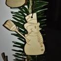 karácsonyfadísz056, Dekoráció, Ünnepi dekoráció, Karácsonyi, adventi apróságok, Karácsonyfadísz, Famegmunkálás, 3 mm vastag rétegelt fából készült függeszthető, igény szerint színre festhető vagy fújható, 5,5*4,..., Meska