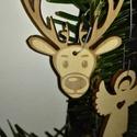 karácsonyfadísz057, Dekoráció, Ünnepi dekoráció, Karácsonyi, adventi apróságok, Karácsonyfadísz, Famegmunkálás, 3 mm vastag rétegelt fából készült függeszthető, igény szerint színre festhető vagy fújható, 6*4,5 ..., Meska