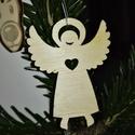 karácsonyfadísz058, Dekoráció, Ünnepi dekoráció, Karácsonyi, adventi apróságok, Karácsonyfadísz, Famegmunkálás, 3 mm vastag rétegelt fából készült függeszthető, igény szerint színre festhető vagy fújható, 6*4,5 ..., Meska