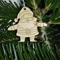 karácsonyfadísz059, Dekoráció, Karácsonyi, adventi apróságok, Ünnepi dekoráció, Karácsonyfadísz, Famegmunkálás, 3 mm vastag rétegelt fából készült függeszthető, igény szerint színre festhető vagy fújható, 4*4,5 ..., Meska