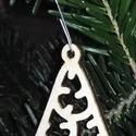 karácsonyfadísz007, Dekoráció, Ünnepi dekoráció, Karácsonyi, adventi apróságok, Karácsonyfadísz, Famegmunkálás, 3 mm vastag rétegelt fából készült függeszthető, igény szerint színre festhető vagy fújható, 6 cm m..., Meska