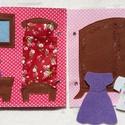 15 aktív oldalas Lányos Foglalkoztató könyv / Csendes könyv, Baba-mama-gyerek, Játék, Készségfejlesztő játék, Logikai játék, Hímzés, Varrás, Ez a lapozgatható, kézzel, anyai szeretettel, fantáziával készített foglalkoztató és fejlesztő játé..., Meska