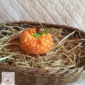 Tök dekoráció /KICSI/ narancssárga pöttyes, Otthon, lakberendezés, Varrás, Ezek a kézzel készített tökök nagyszerű kiegészítői lehetnek lakásunk őszi dekorációjának. Meglephe..., Meska