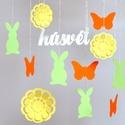 Nyuszis húsvéti függő dekoráció parti húsvét dísz gyerekszoba babaszoba nyúl zöld, Baba-mama-gyerek, Dekoráció, Ünnepi dekoráció, Húsvéti apróságok, Nyuszis húsvéti dekoráció  Ez a csodaszép izgő-mozgó 3D-s nyuszis dekoráció hangulatossá v..., Meska