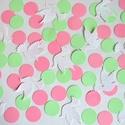 Konfetti esküvő dekoráció asztalidísz galamb kör, Baba-mama-gyerek, Dekoráció, Naptár, képeslap, album, Papírművészet, Esküvői konfetti/asztalidísz  Ha szeretnél egy álomszép és hangulatos esküvőt tartani, díszítsd föl..., Meska