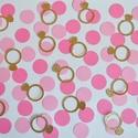 Konfetti esküvő dekoráció asztalidísz arany gyűrű kör rózsaszín, Dekoráció, Esküvő, Esküvői dekoráció, Papírművészet, Esküvői konfetti/asztalidísz  Ha szeretnél egy álomszép és hangulatos esküvőt tartani, díszítsd föl..., Meska